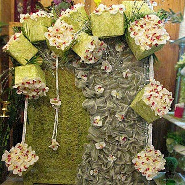 Hanging Floral Box Decoration:Flower Decoration Near Me