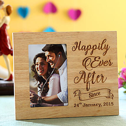 best wooden photo frame with engrave message online:Personalized Photo Frames