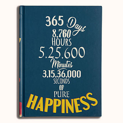 Online Happiness Hardcase Notebook