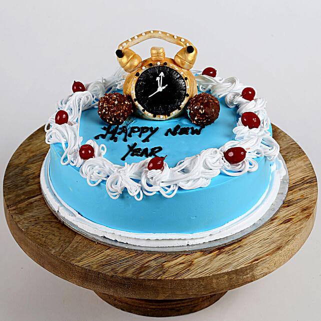 Wishing new year cake