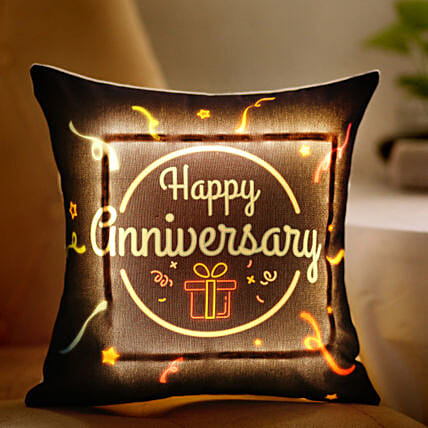 printed led cushion for anniversary