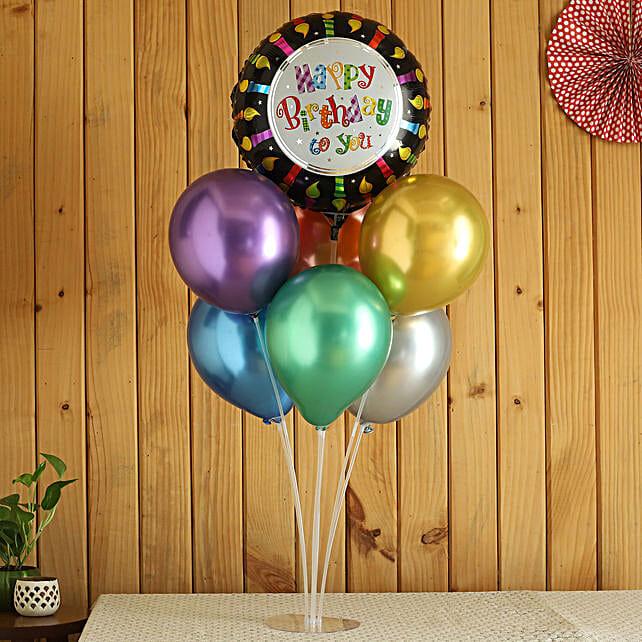 Happy Birthday Balloon Bouquet:Balloon Bouquets