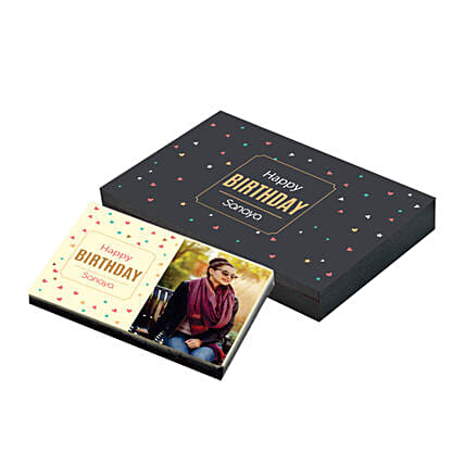 best happy birthday personalised chocolate box online
