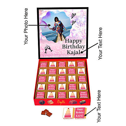 personalised chocolate for her birthday