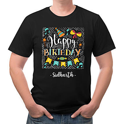 Happy Birthday Personalised Cotton T shirt