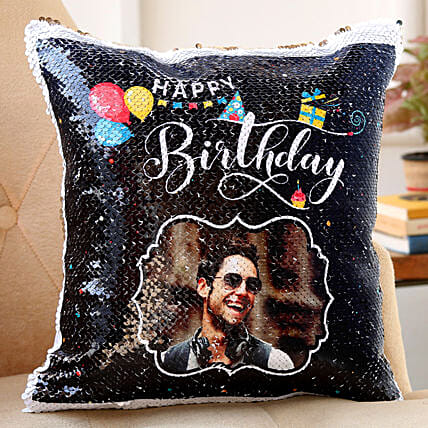 sequin cushion for birthday:Customised Pillow