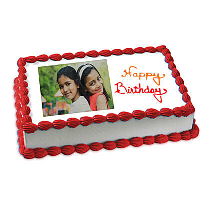 Happy Birthday Photo Cake 2kg Vanilla