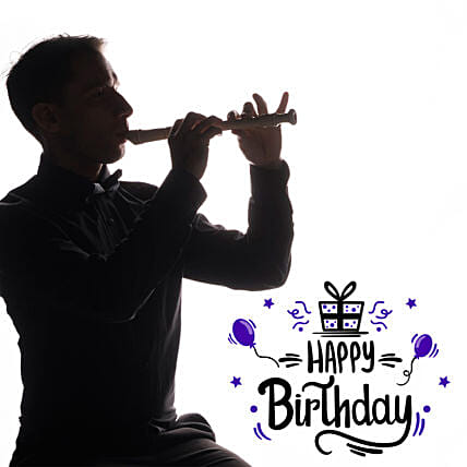 Happy Birthday Soulful Flute Melodies on Call:Flute Player on Call