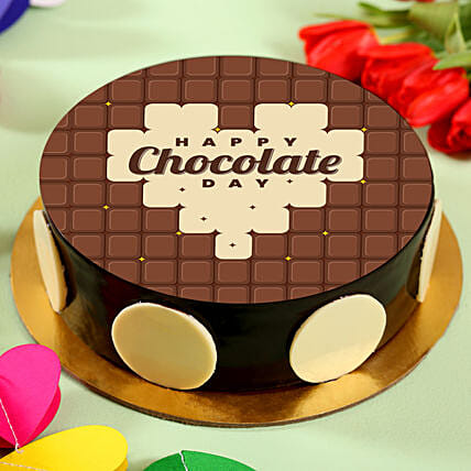 Happy Chocolate Day Photo Cake