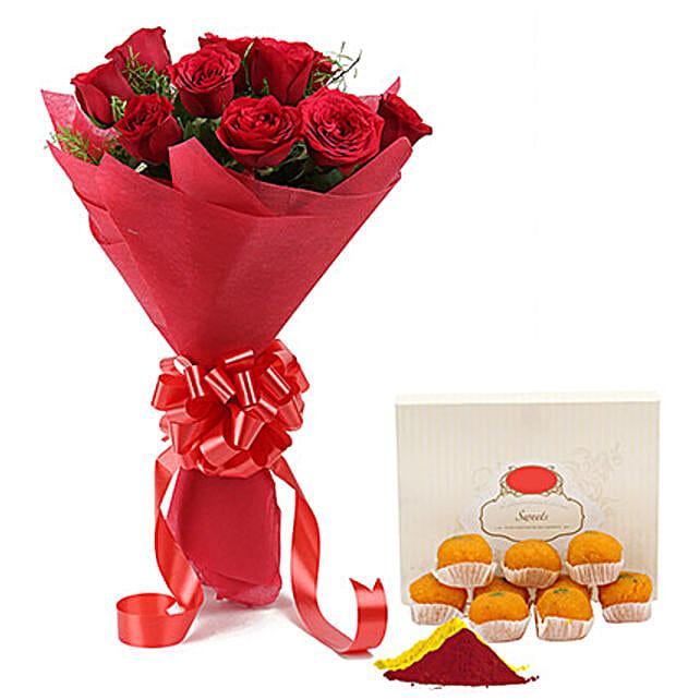 Holi Combo Online:Send Flowers & Sweets for Holi