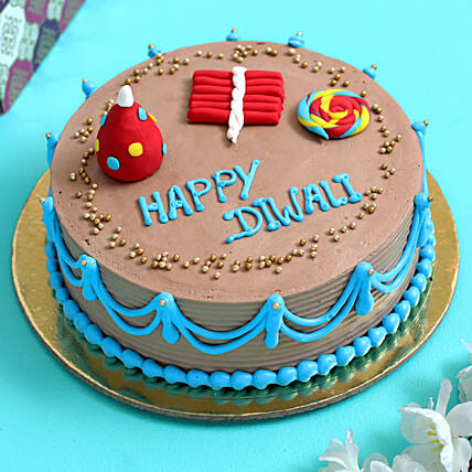 Online  Diwali Crackers Chocolate Cake