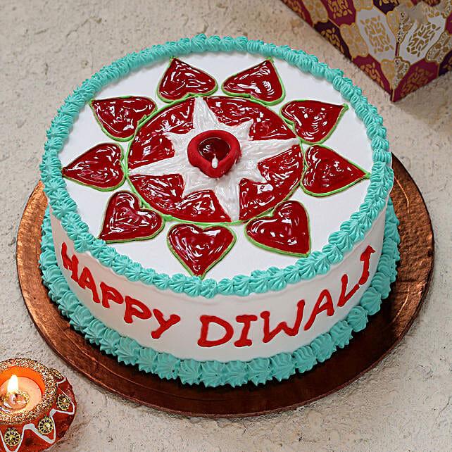 Diwali Rangoli Design Cake