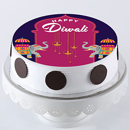 photo cake for Diwali online:Diwali Theme Cakes