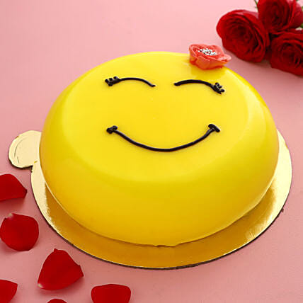 Happy Emoji Pineapple Cake