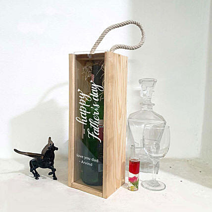 fathers day personalised wine box:Bar Accessories For Father's Day