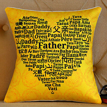 Happy Father's Day Printed Cushion- Hand Delivery