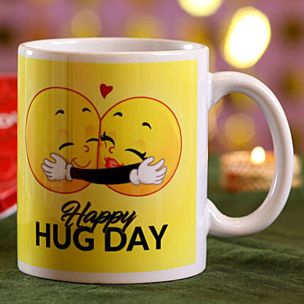 Online Hug Day Mug:Coffee Mugs