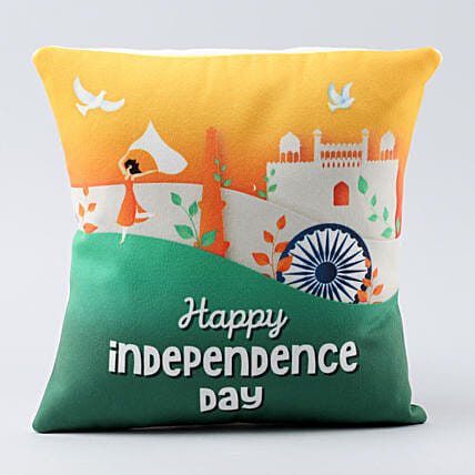 happy india printed cushion