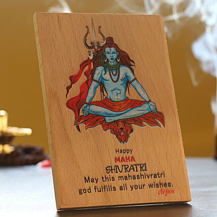 Happy Maha Shivratri Personalised Plaque:Shivratri Gifts