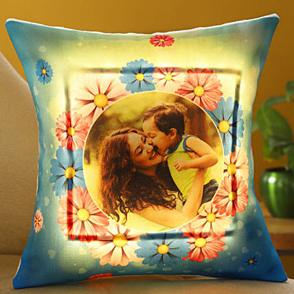 Happy Mothers Day Personalised LED Cushion