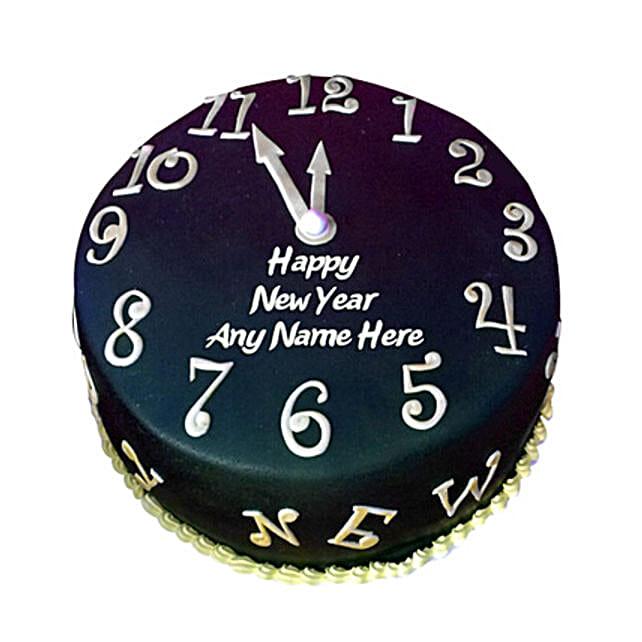 Happy New Year Countdown Fondant Cake 3kg