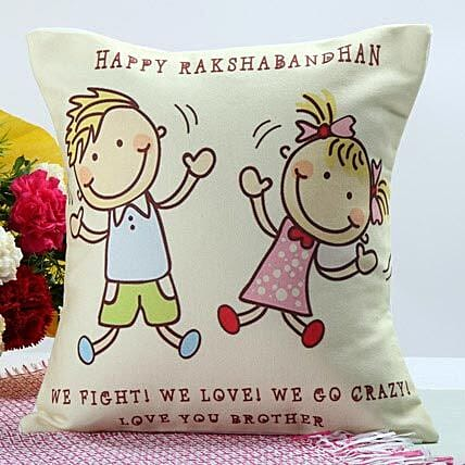 Happy raksha bandhan cushion:Send Lucky Bamboo to Noida