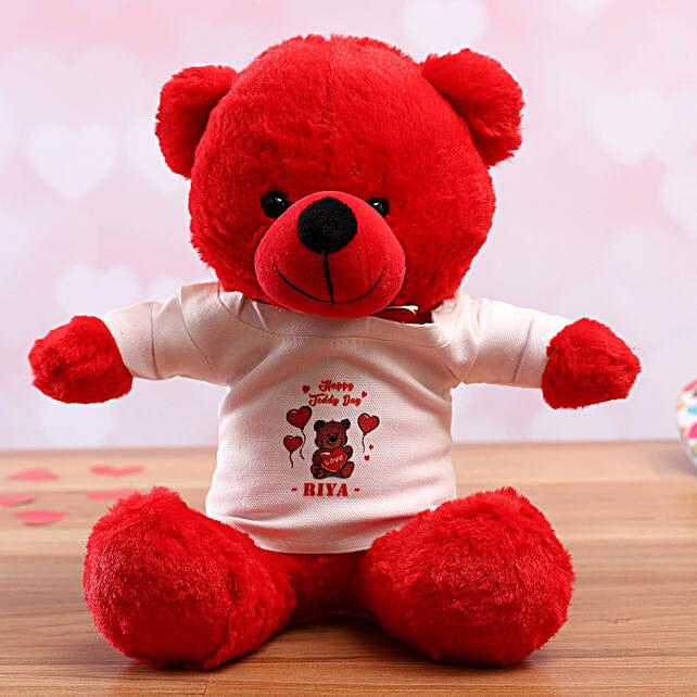 online personalised tshirt teddy for vday
