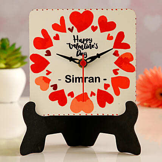 online valentine theme table clock