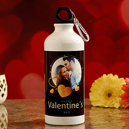 valentines theme water bottle:Personalised Message Bottles