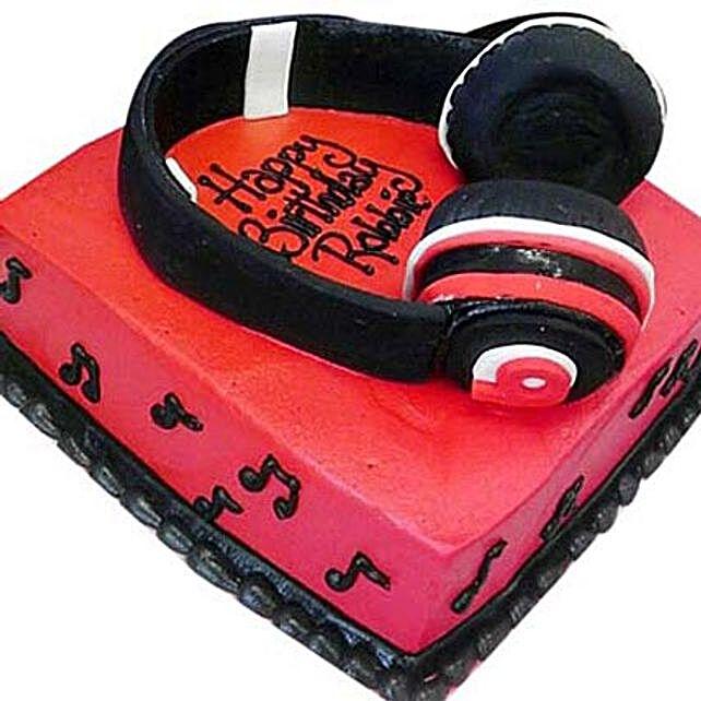 Headphone Shape Cake 4Kg Eggless Chocolate