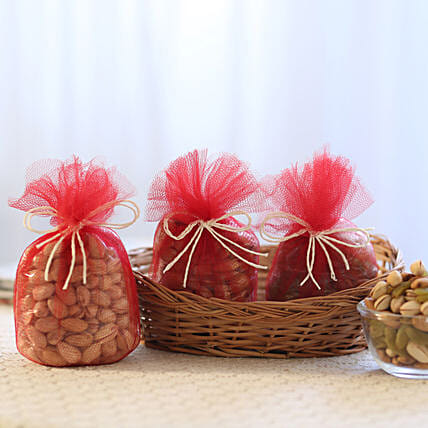 Dry fruits in a basket:Pohela Boishakh Gifts