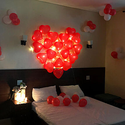Balloon Room Decoration Online:Valentines Day Balloon Decorations
