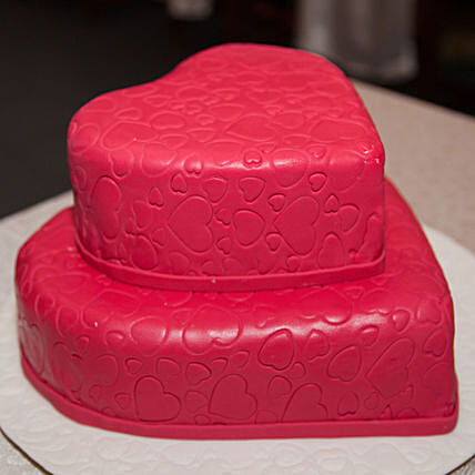OnlineHeart Shaped 2 Tier Truffle Cake