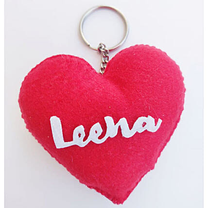 Heart Shaped Personalised Keychain