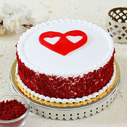 heart topper red velvet cake online
