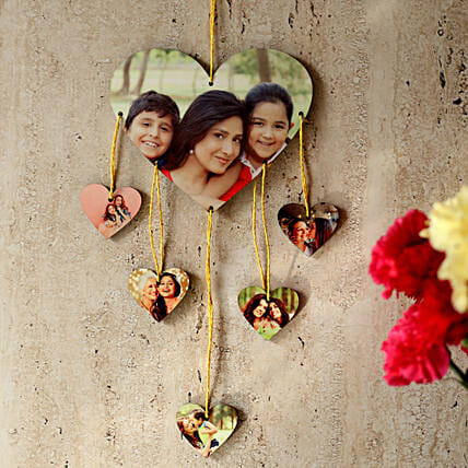 Heartshaped Personalized Wall Hanging-personalized wall hanging heartshaped:Personalised Gifts Bhubaneshwar