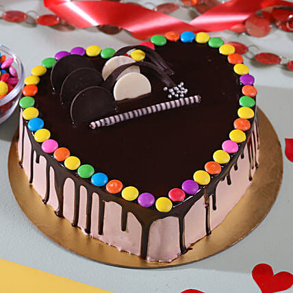 Romantic Chocolate Cake Online:Send Romantic Cakes