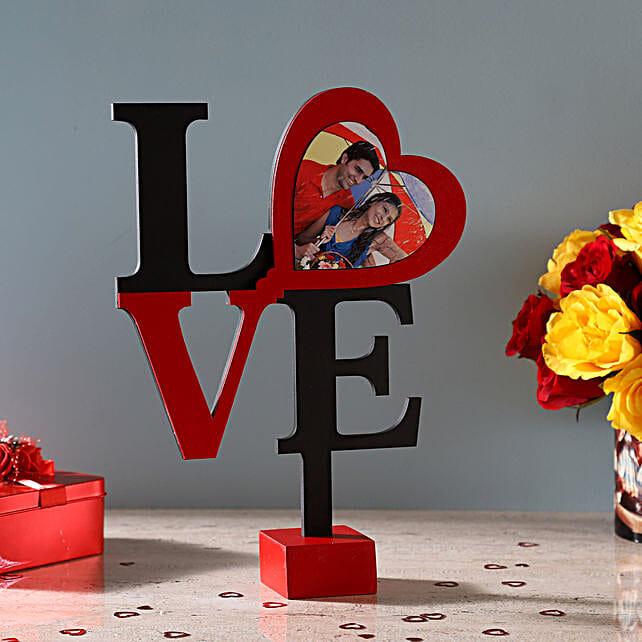 love text frame for V-day