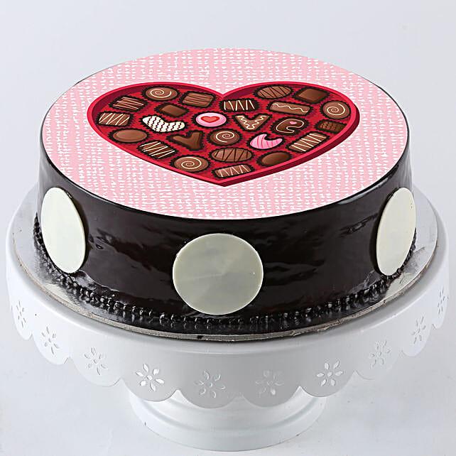 love printed photo cake online