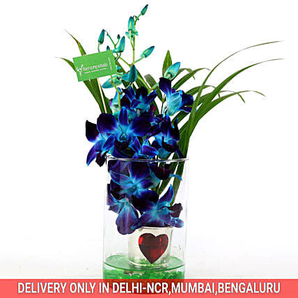 Online Hearty Orchid Vase Arrangement