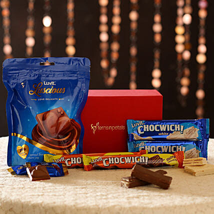 Chocolate Bar in Red Box Online:Luvit Chocolates