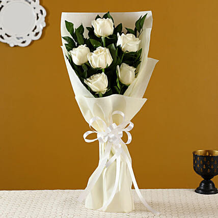 Order White Roses Bunch