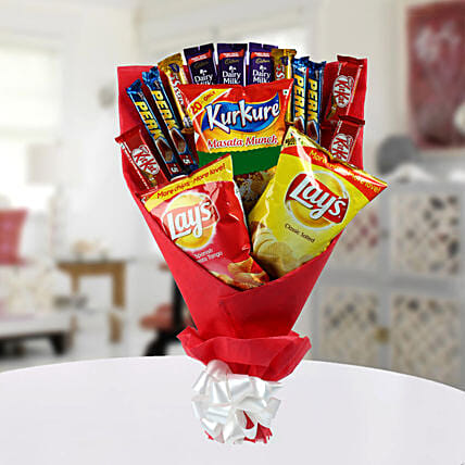 Chocolate Bouquet with Chips:Chocolate Bouquet