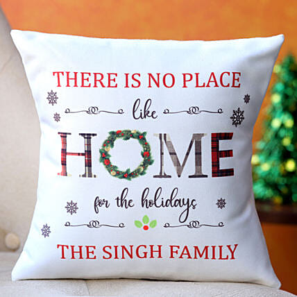 Holiday Bliss Personalised Cushion Hand Delivery
