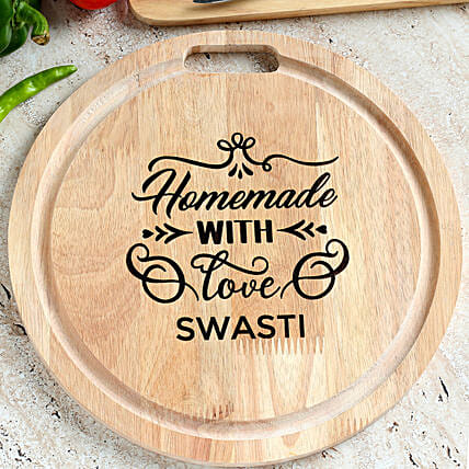 name printed chopping board