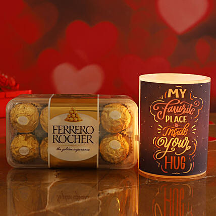 Hug Day Special Hollow Candle Ferrero Rocher Box