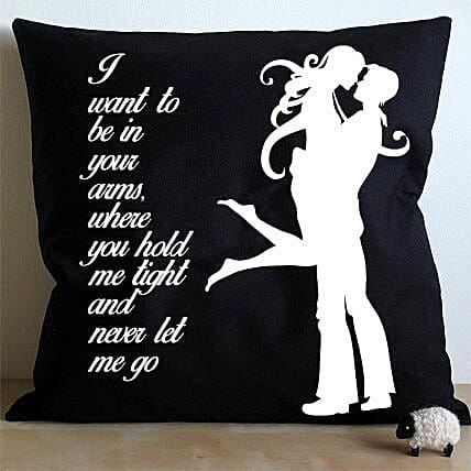 Hug Me Cushion-hugging black and white cushion:Home Decor Anniversary Gifts