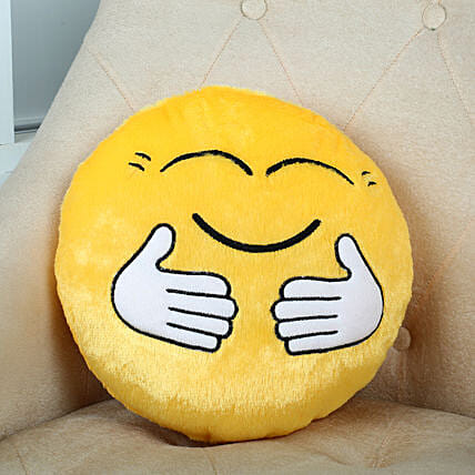 Hug Smile Cushion:Valentine Gifts Mohali