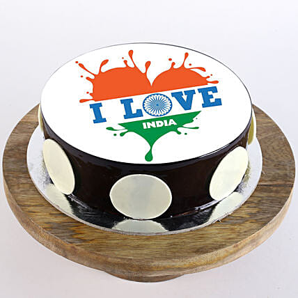 Online Independence Day Chocolate Cake:Independence Day Gifts
