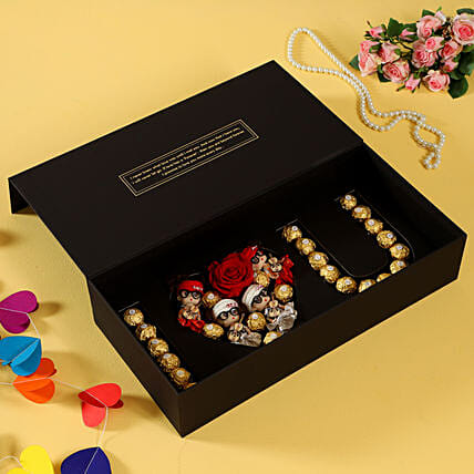 infinity roses with chocolate box online:Flower Delivery in Farrukhabad